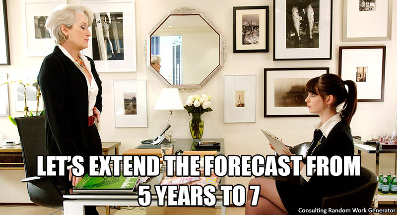 Let's extend the forecast from 5 years to 7