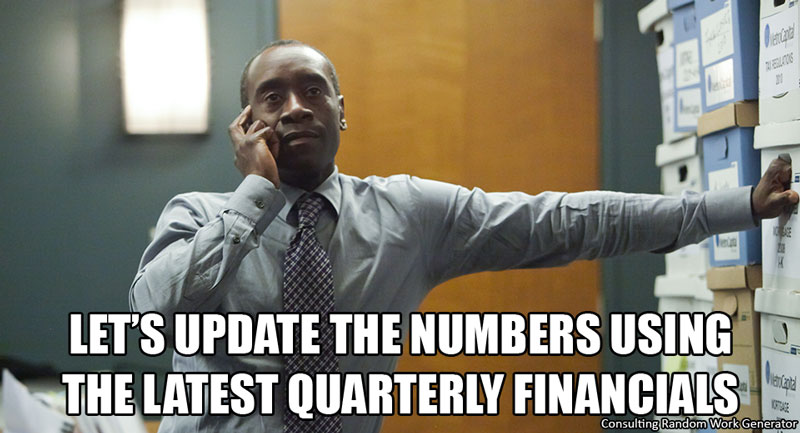 Let's update the numbers using the latest quarterly financials