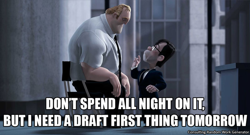 Don't spend the night on it, but I need a draft first thing tomorrow
